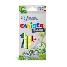 Rotuladores Carioca Fabric 6. Tinta especial para tejidos.